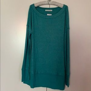 We The Free People thermal top small blue NWT NEW
